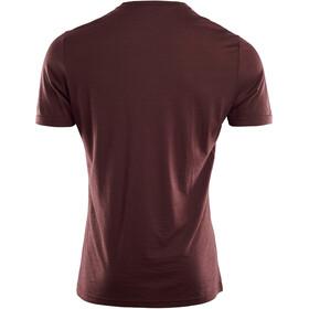 Aclima LightWool Camiseta Cuello en V Hombre, bitter chocolate